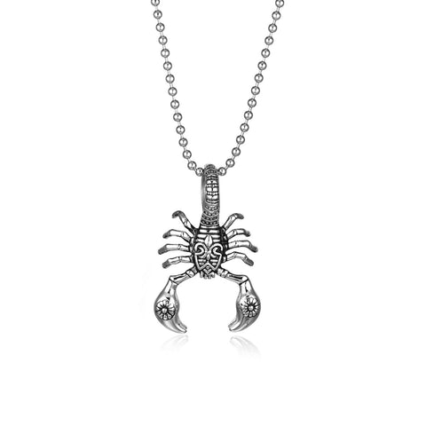 Poisonous Scorpions Titanium Steel Men's Necklace
