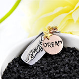 "925 Sterling Silver ""dream"" Stamped Pendant Necklace"