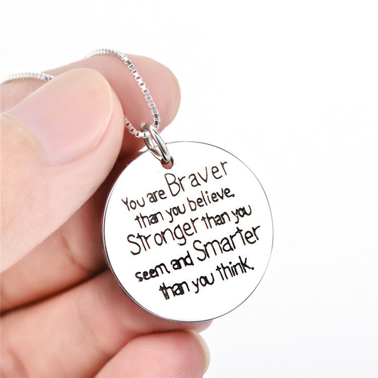 925 sterling silver inspirational quotes stamped pendant necklaces 925 sterling silver inspirational quotes stamped pendant necklaces aloadofball Images
