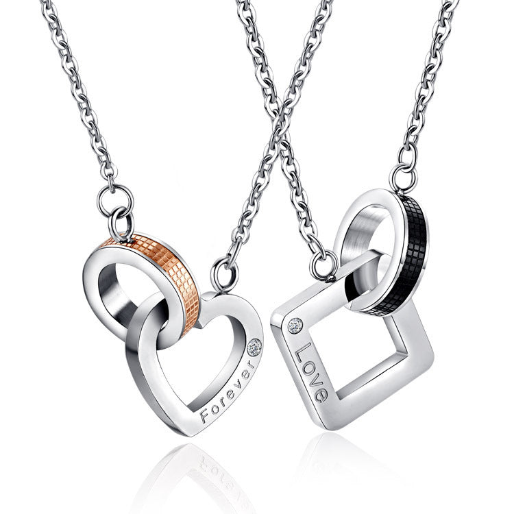6ce0ddc838 Love Forever Titanium Steel Couple Necklace. $118.40 $49.95. Brand  EverMarker