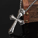 Men's Necklace Cross-shaped Titanium Steel