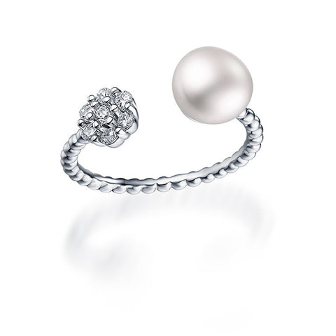 Imperial Cultured Pearl Open Cuff Ring