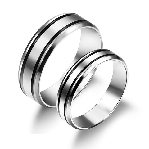 Top Stainless Steel Lover Rings(Price For a Pair)
