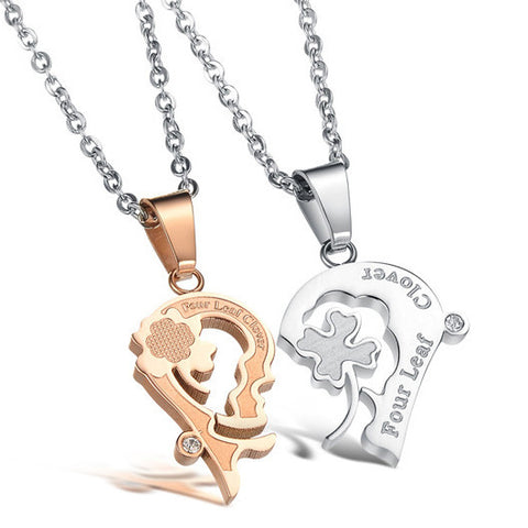 Personalized 'Kiss Me' Couple Necklaces Engravable(Price For a Pair)