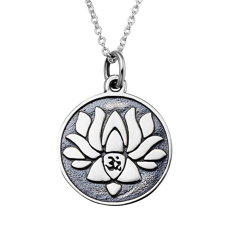 Sterling Silver Lotus Pendnat Necklace