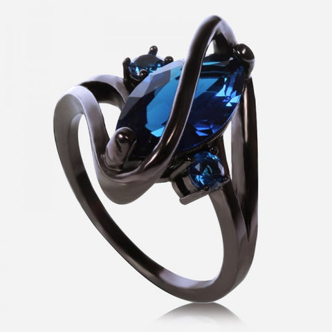 Blue Sapphire Engagement Cocktail Ring