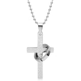 Cross Scripture Titanium Steel Unisex Men Necklace