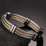 Corss-shaped Titanium Steel Men's Bracelet