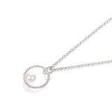 Simple Pearl Ring Necklace