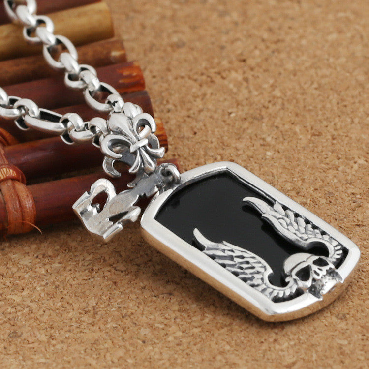 Korean Style Skull Pendant Necklace for Men