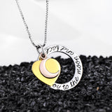 Platinum Plating Gold Plating Moon and Heart Stamped Pendant Necklace