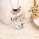 Buck& Doe Interlocking Love Quarter Cut Coins Couple Necklaces