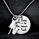 Personalized 925 Sterling Silver Lady and Stamped Pendant Necklace