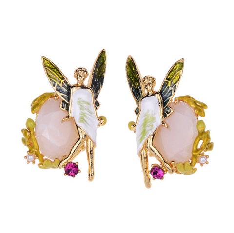 Women Fashion Gift Colorful Fairy Earring With Zircon Gems