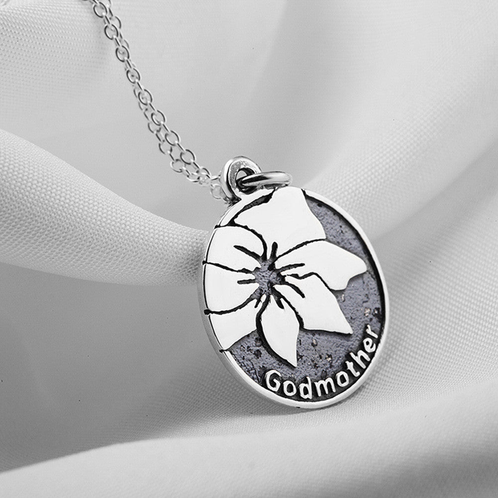 Personalized 925 sterling silver godmother stamped pendant personalized 925 sterling silver godmother stamped pendant necklace aloadofball Gallery