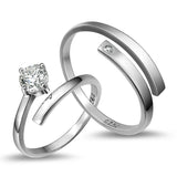 Romantic 925 Sterling Silver Lover's Opening Rings(Price for One Pair)