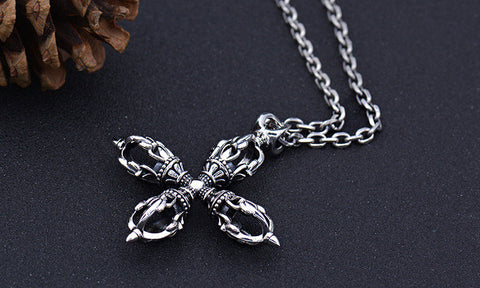 Cross Amulet Pendant Necklace