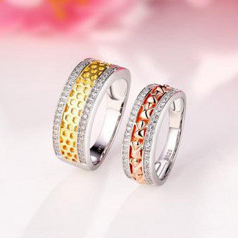 Personalized Forever Love 925 Sterling Silver Couple Rings
