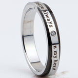 You Are Always In My Heart Stainless Steel Couple Rings