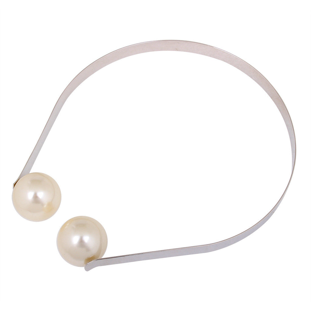 Pearl End Choker in Alloy
