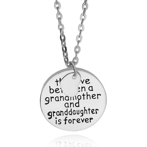 Love Between A Grandmother and Granddaughter Is Forever Necklace (heart shape)