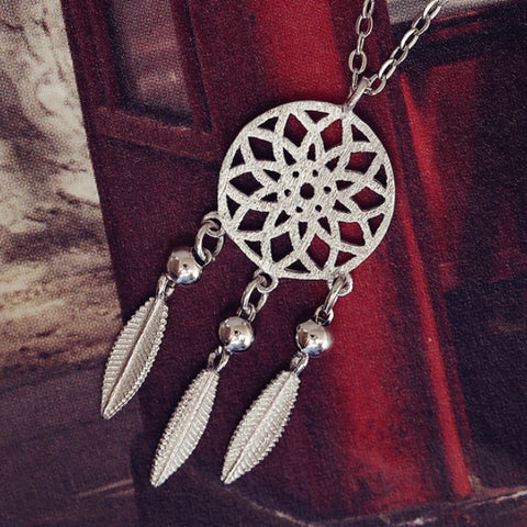 Feather 925 Sterling Silver Pendant Necklace