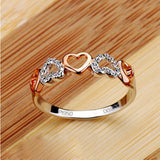 New Romantic Heart Cubic Zirconia Women's Ring