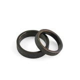 Personalized Black Titanium Pearl Sand Matte Lover's Couple Rings