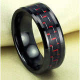 Personalized Fabulous Black&Red Man's Fashion Ring