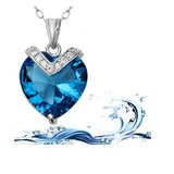 Mother's Jewelry - Heart Of The Ocean 925 Sterling Silver Pendant