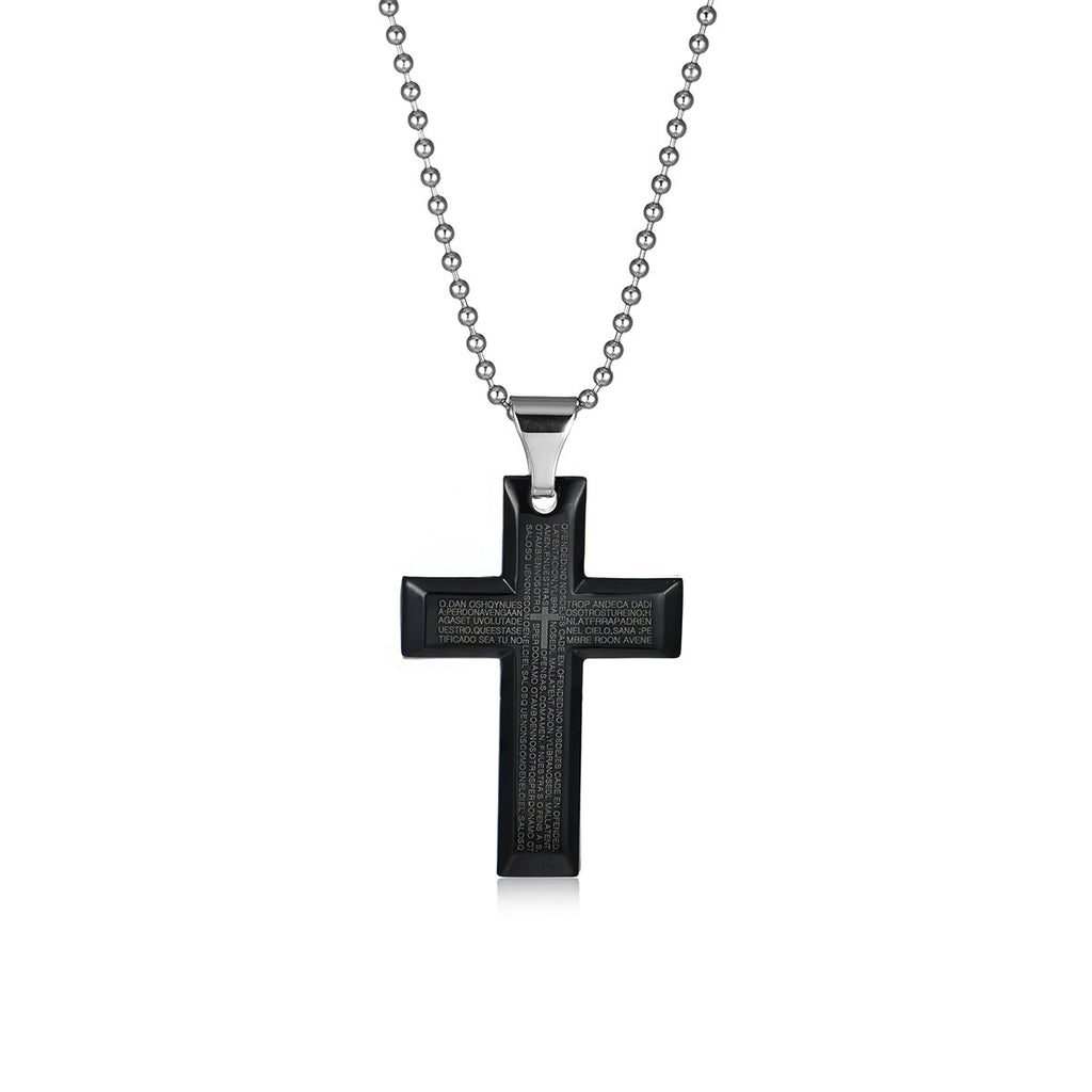 Multiple Cross Titanium Steel Necklace