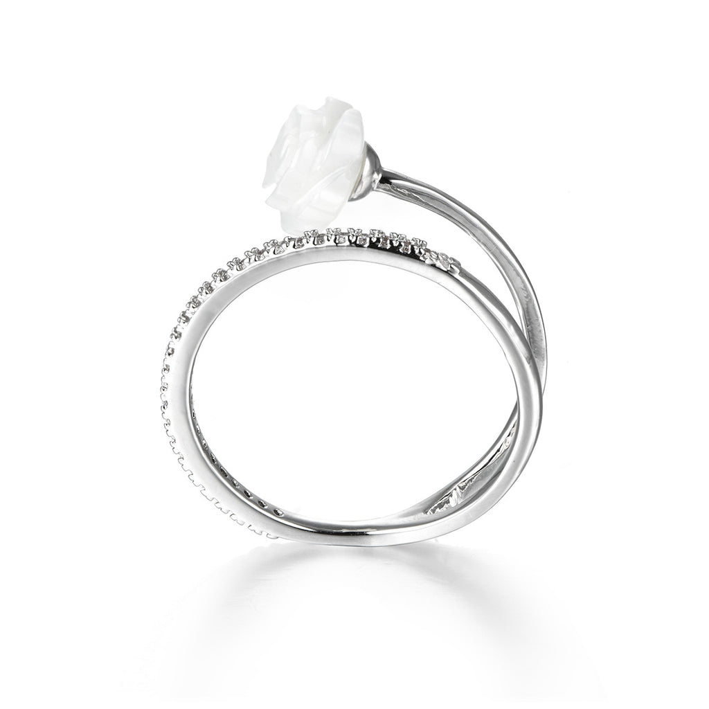 White Rose Promise Ring