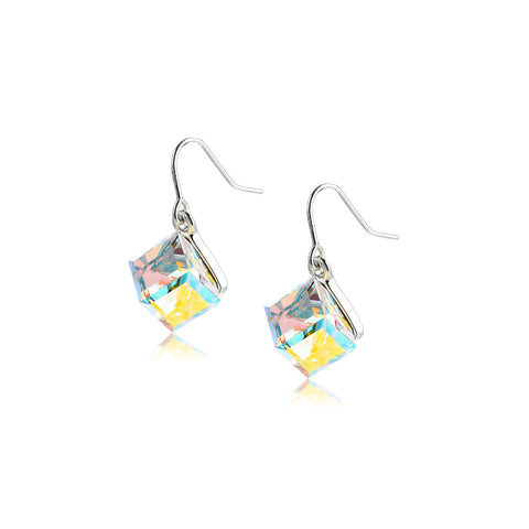 Minimalism Cubic Pattern Earrings