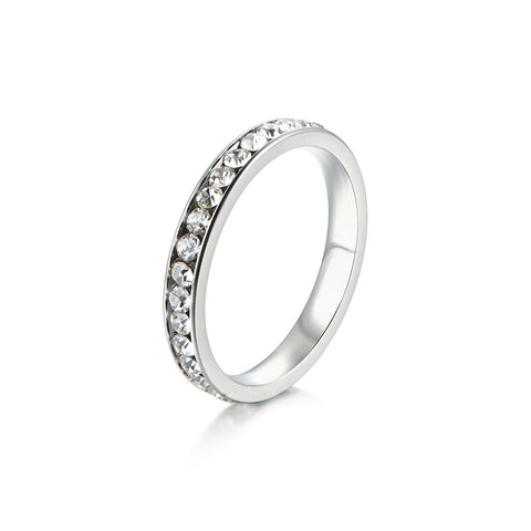 Hollow Out Design Titanium Steel Midi Ring