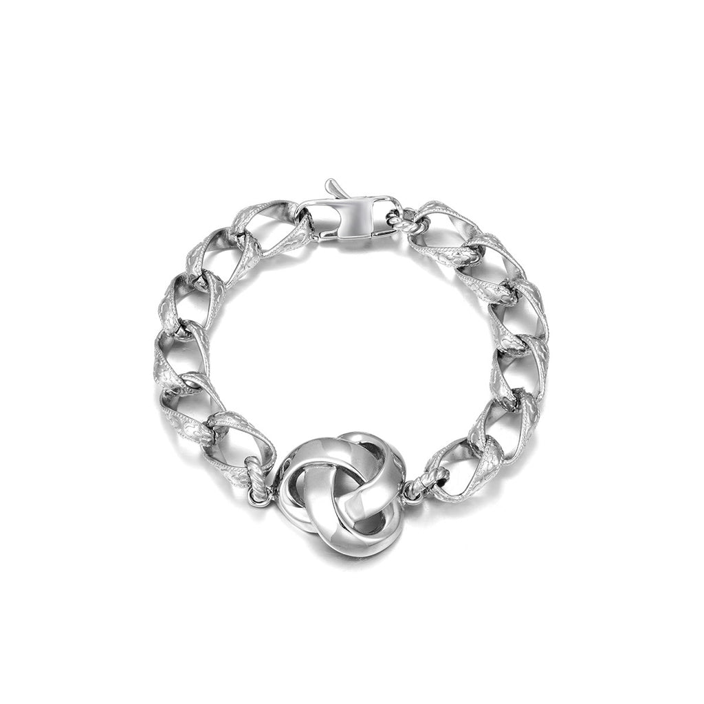 Plain Stainless Steel Chain  Bracelet for Men