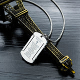Serenity Prayer Stainless Steel Men's Necklace