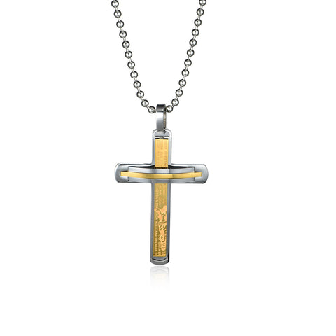 Tied to the Cross Titanium Steel Men's Necklace