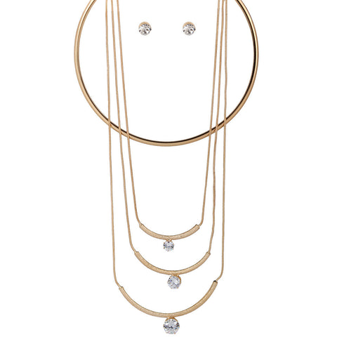Multi-layer Choker Necklace in Alloy
