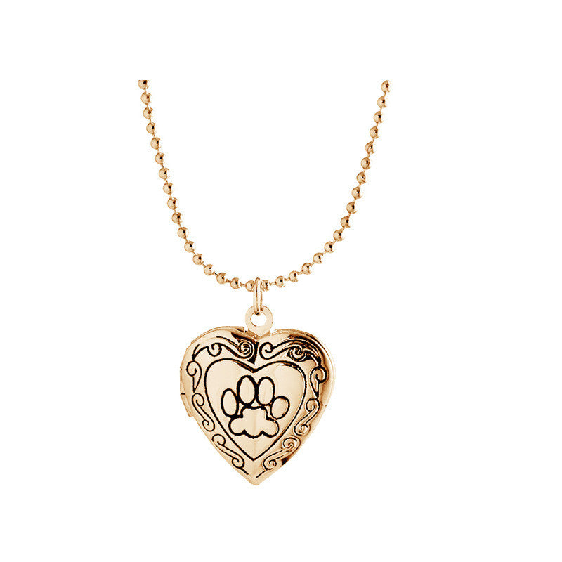 Vintage Heart Shape Gold/Silver Plated Locket Pendant Necklace