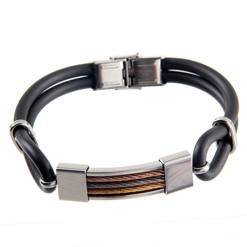 Plain Style Wristband for Men