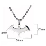 Batman Sign Pendant 316L Stainless Steel Men's Unisex Necklace