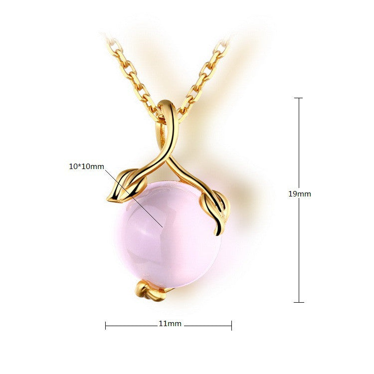 Simple gold plated ball shaped crystal pendant necklace evermarker simple gold plated ball shaped crystal pendant necklace aloadofball Images