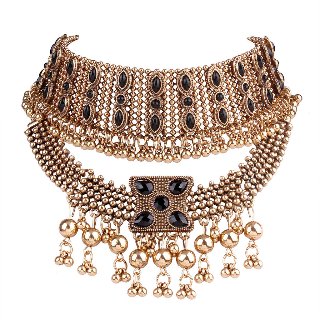 Retro-style Multi-layer Choker Necklace