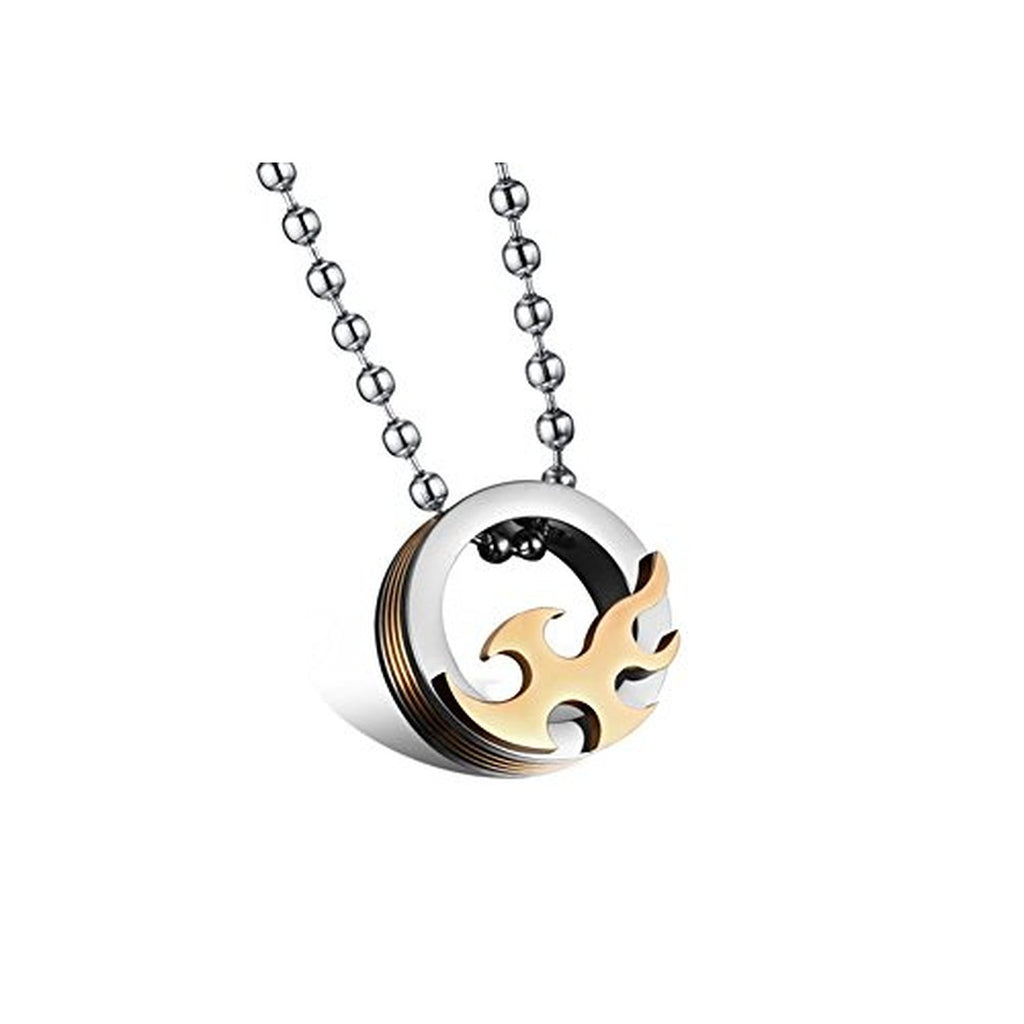 Couple Mens Women Necklace 316L Stainless Steel Ring Him And Her ...
