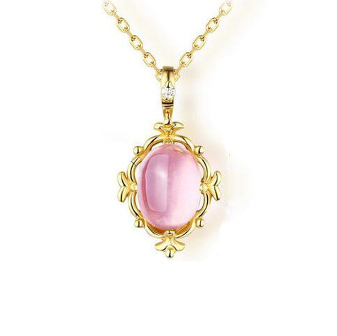 Egg Shaped Opal Pendant 925 Sterling Silver Necklace