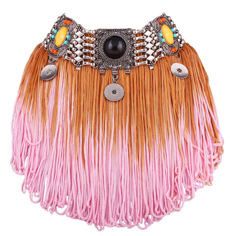 Bohemian Tassel Choker Necklace
