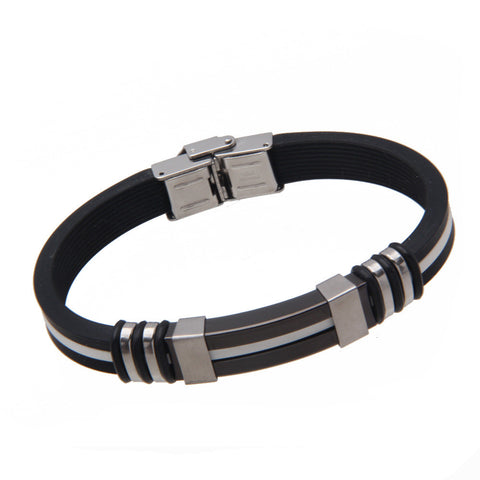 Stainless Steel Silicone Wristband