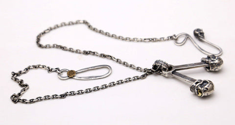 One Eyed Skull Silver Pendant Necklace