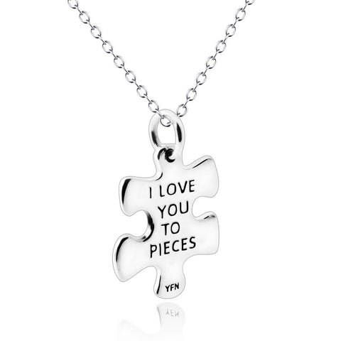 Message Engraved Silver Pendant Necklace