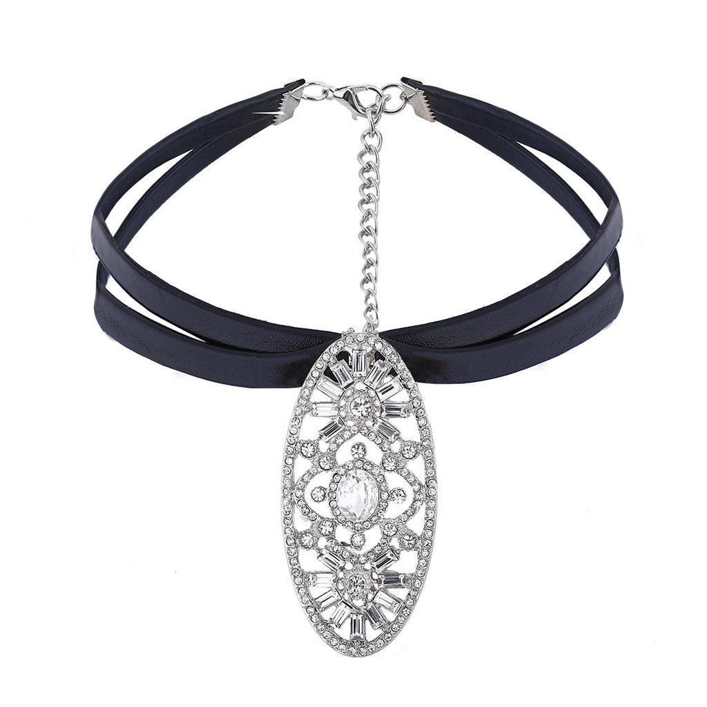 Pu Leather Choker Collar Necklace